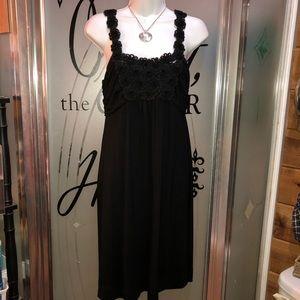 Elle Dresses - Elle designer sexy dress chest is sheer mesh roses